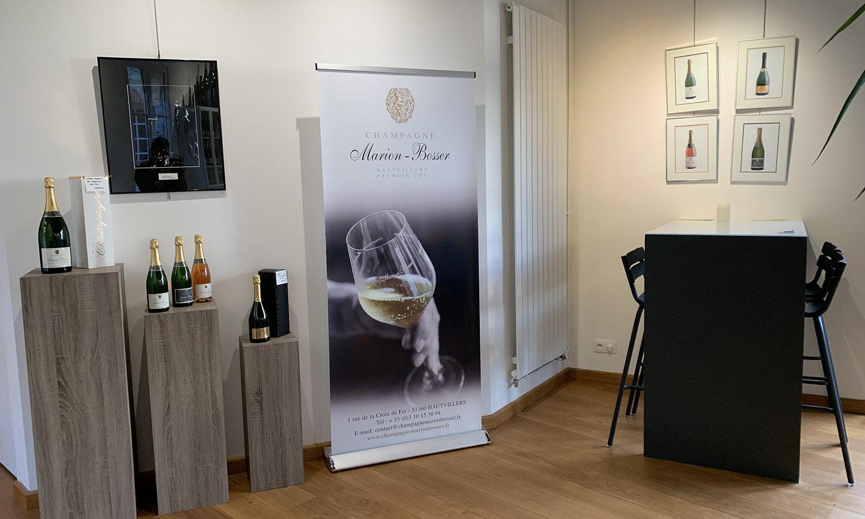 Salle dégustation Champagne Marion Bosser