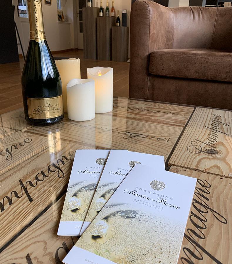 Plaquette Maison de Champagne Marion Bosser - Cuvée Millesime