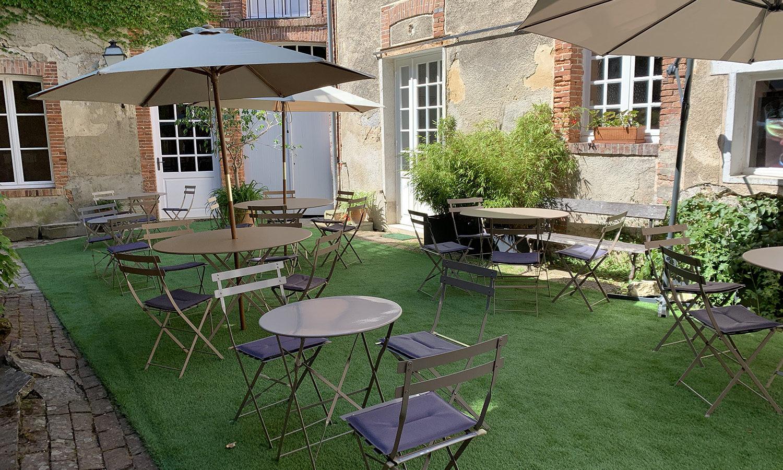 Terrasse Maison de Champagne Marion Bosser